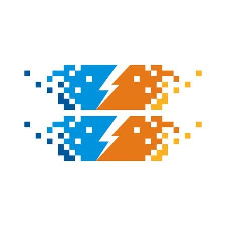 electricity pylon: Electricity Power Icon vector Illustration