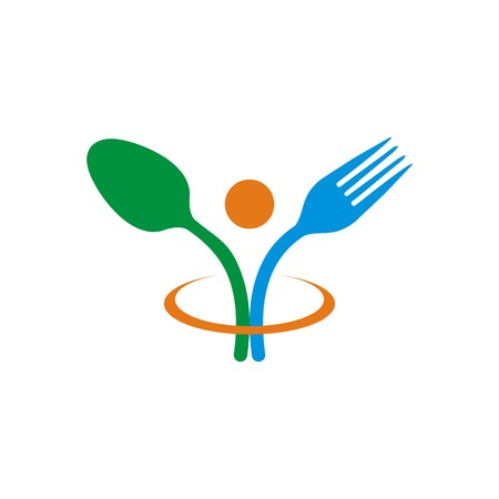 starving: design spoon and fork logo