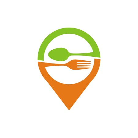 starving: logo spoon and fork vector