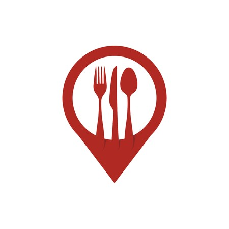 design logo spoon, knife and fork vector 일러스트