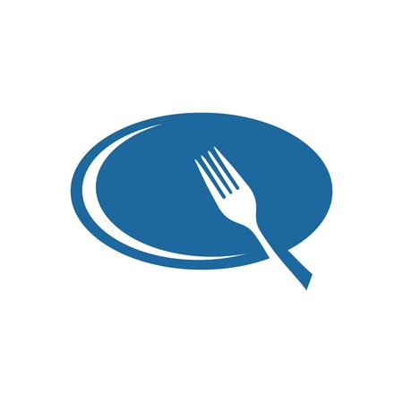 starving: icon  plate and fork vector Illustration