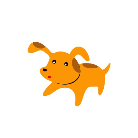 pig with wings: babydog cute animat pet shop symbol vector