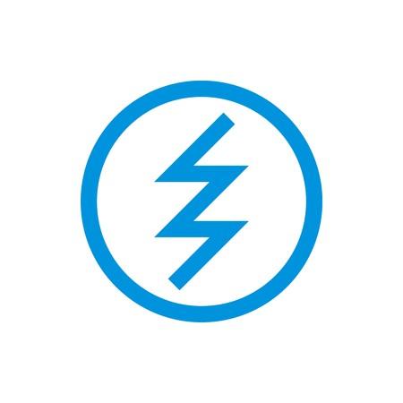 circle electric logo power volt Illustration