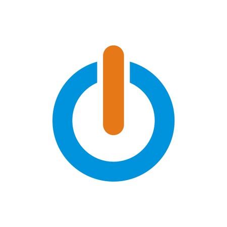 Logo Power icon turn on/off symbol vector Stock Vector - 57957433