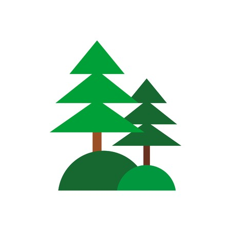 pine forest: abstract forest spruce pine green vector Illustration