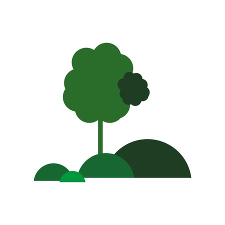 forest symbol: tree icon forest symbol green nature vector