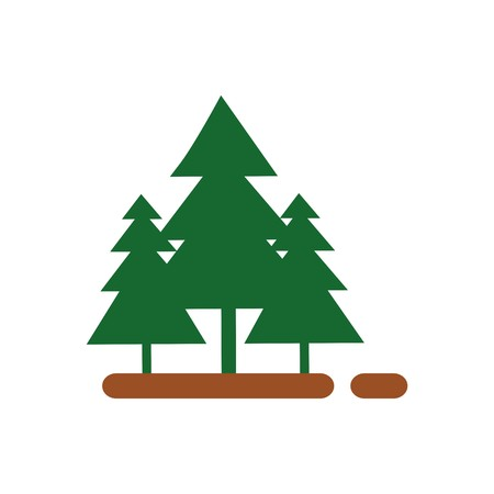 pine green: abstract forest spruce pine green vector Illustration