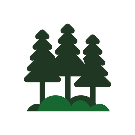 wanderlust: abstract forest spruce pine green vector Illustration