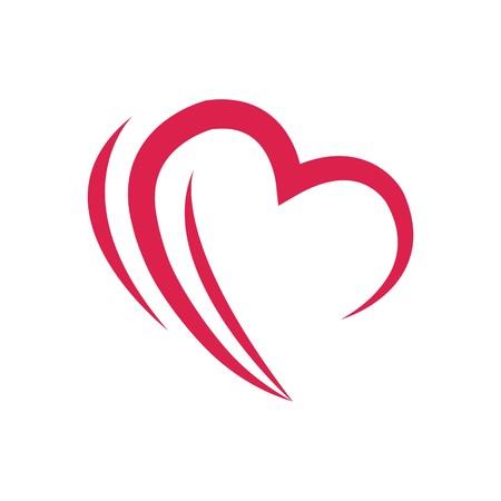 liefde pictogram symbool hart vector Stock Illustratie