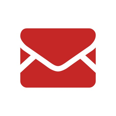 mail address: Logo envelope mail address icon message newsletter symbol vector