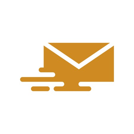 mail address: Logo envelope mail address icon message newsletter express