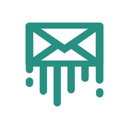mail address: mail address logo icon message newsletter symbol vector