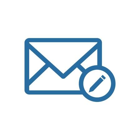 ロゴ封筒メール アドレス アイコン メッセージ ニュースレター シンボル ベクトル