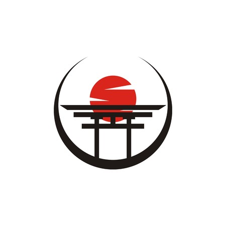 Japanese symbol icon design graphic Illustration