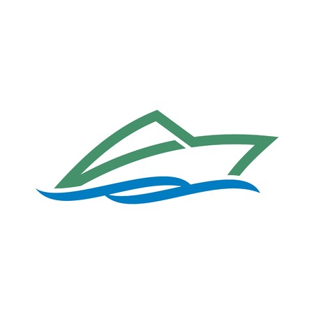 Diseño del símbolo de barco de vela yate de tiempo de la nave abstracta turismo icono del vector