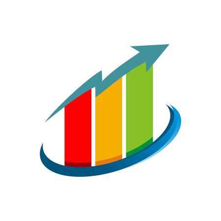 palmtop: Business graph growth progress icon vector