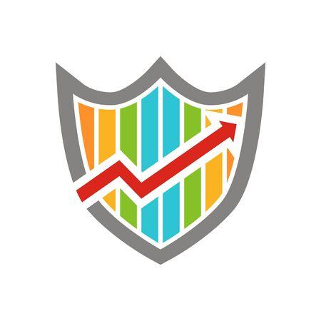 palmtop: Business colorful arrow finance vector