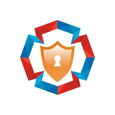 shielding: security shield symbol sunlight icon circle logo protection