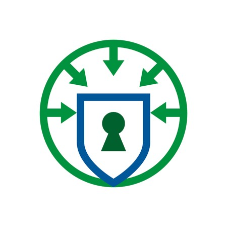 shielding: security shield symbol icon circle logo protection