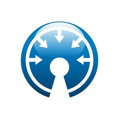 lock symbol: security shield symbol icon lock illustration Illustration