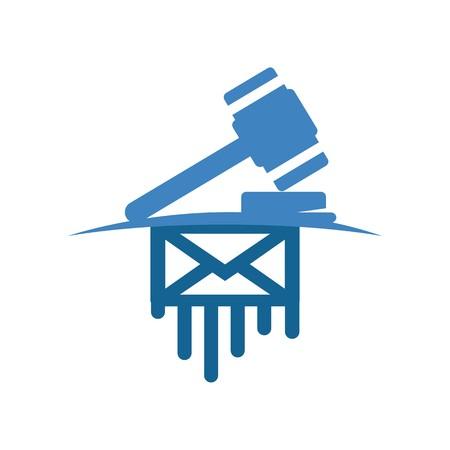 Logo design judge hammer icon symbol law firm Logo