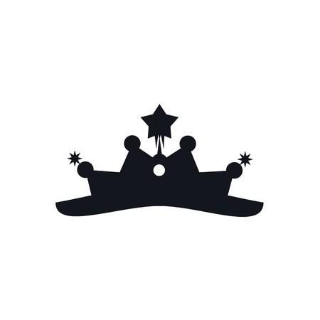 coronal: Design crown coronal majestic kingdom design Illustration