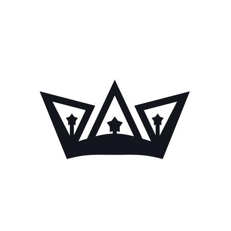 Design crown coronal majestic kingdom design Illustration