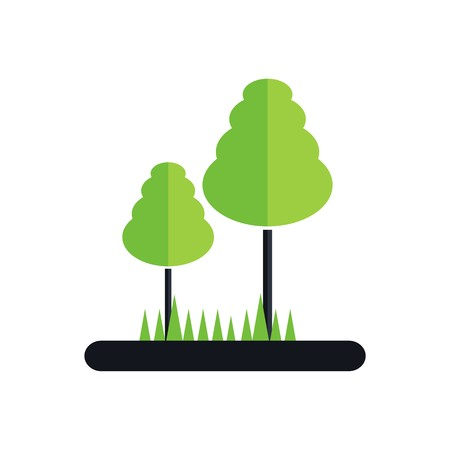 forest symbol: Icon Park Forest symbol natural vector