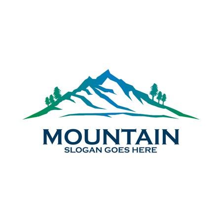 conception vecteur paysage icône symbole de montagne