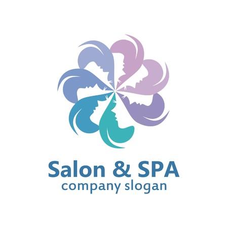 Beauty tratment salon and spa Illustration