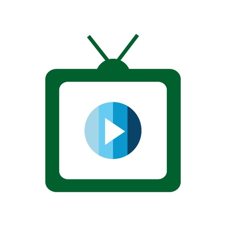 TV and movie vector icon