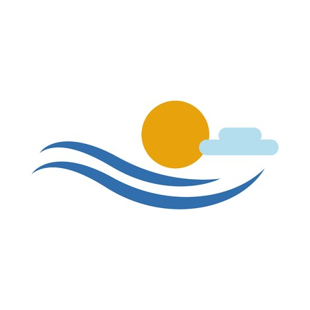 Tropical summer holiday icon Illustration