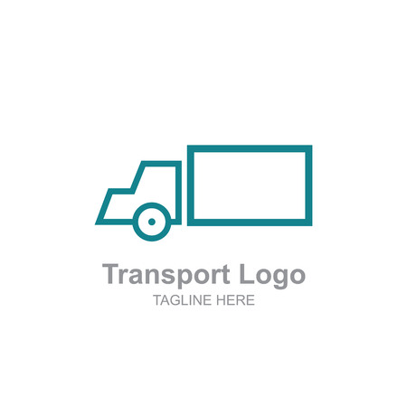 Simple Transportation truck logo