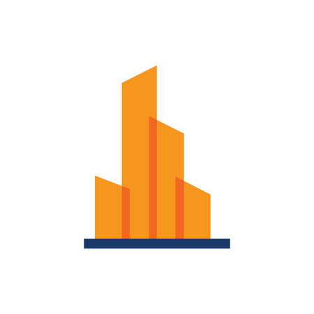 Modern town building icon