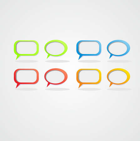 conversational: Sticker Labels illustrations