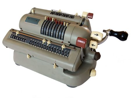 Vintage mechanical calculator