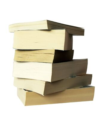 paperback: pile of paperback books Stock Photo