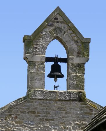 bell tower in Sussex, UK, fishing village