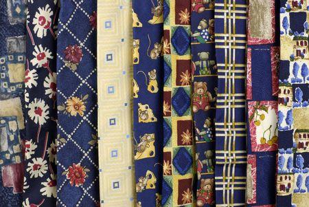 rack of hanging neckties
