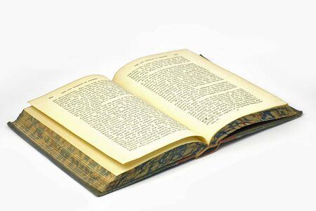 antiquarian: antiquarian book lying open