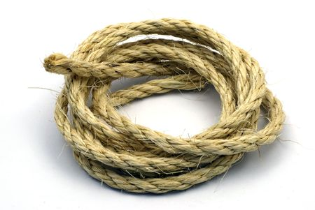 Coil of coarse rope