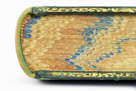 antiquarian: detail of antiquarian book Stock Photo