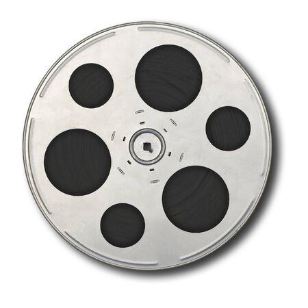 Movie film spool; isolated on white ground