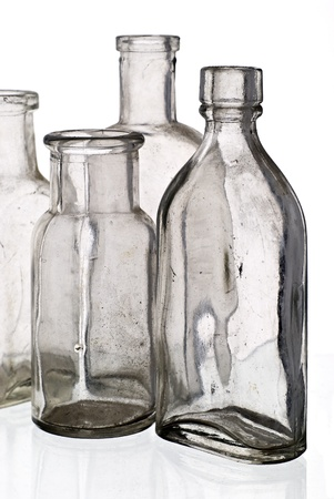 Vintage medicine bottles - isolated on white ground Stock Photo - 9788691