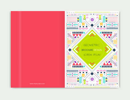 confines: Cover design for Brochure leaflet. Modern background line art. Abstract geometric colorful background.  A4 size.