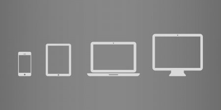 a laptop: Device Icons  smartphone, tablet, laptop and desktop computer