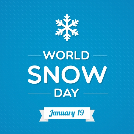 glace: World Snow Day Illustration