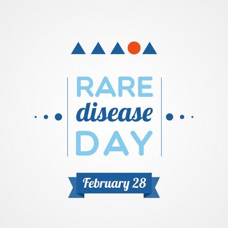 fight disease: Rare Disease Day Illustration