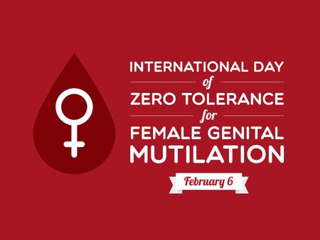 International Day of Zero Tolerance for Female Genital Mutilation 矢量图片