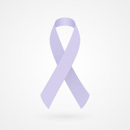 cancer symbol: Cinta de la conciencia de la lavanda de todo tipo de c�ncer